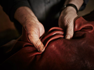Italian vegetable tanned leather
